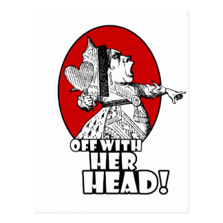 Off With Her Head Logo Post Cards
