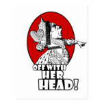 Off With Her Head Logo Postcard