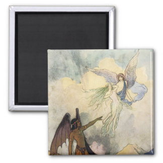 Off, ye icy Spirits, Fly 2 Inch Square Magnet