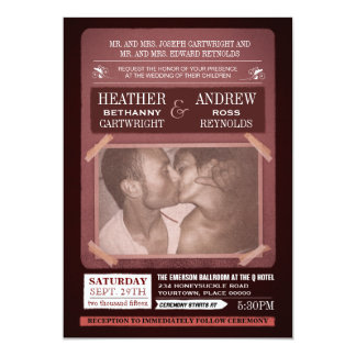 Offbeat Event Poster Style Wedding Card