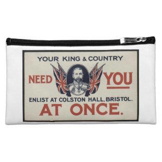Offbeat Patriotic Cosmetic Bag