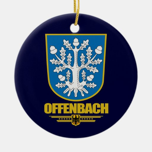 Offenbach am Main Double-Sided Ceramic Round Christmas Ornament