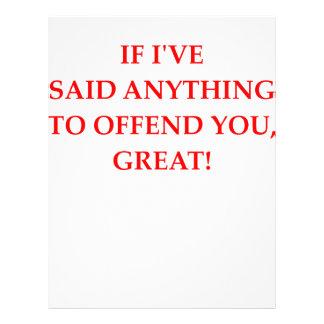 offend letterhead