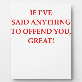 offend plaque
