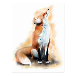 Offended fox. postcard