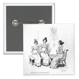 Offended two or three young ladies 2 inch square button