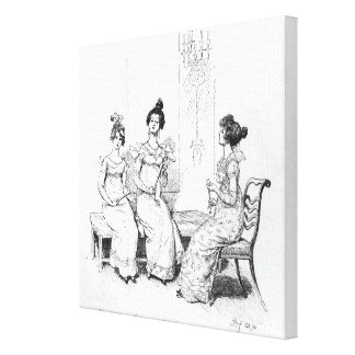 Offended two or three young ladies canvas print