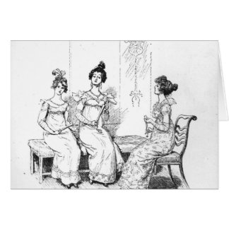 Offended two or three young ladies card