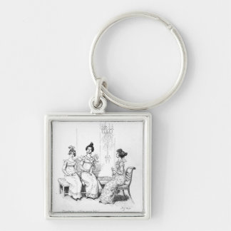 Offended two or three young ladies keychain