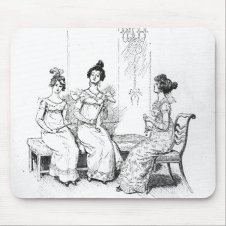 Offended two or three young ladies mousepad