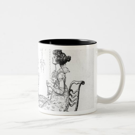 Offended two or three young ladies Two-Tone coffee mug