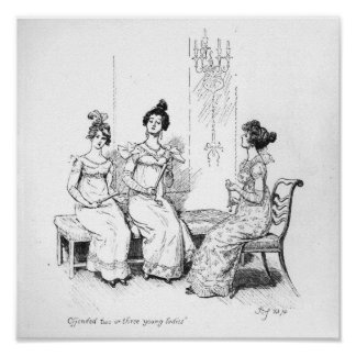 Offended two or three young ladies poster