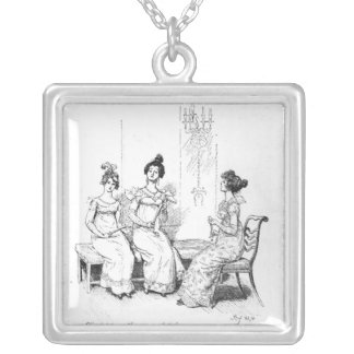 Offended two or three young ladies silver plated necklace
