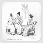 Offended two or three young ladies square sticker