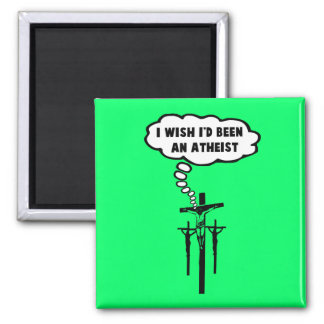 Offensive atheism 2 inch square magnet