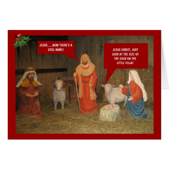 Offensive atheist Christmas Card