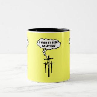 Offensive atheist Two-Tone coffee mug