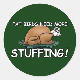 Offensive fat joke classic round sticker