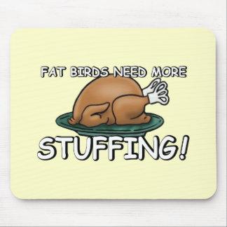 Offensive fat joke mouse pad