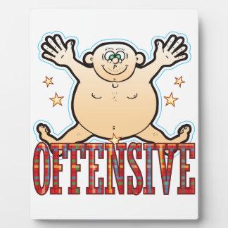 Offensive Fat Man Plaque