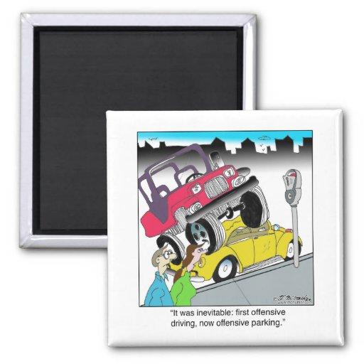 Offensive Parking Fridge Magnets