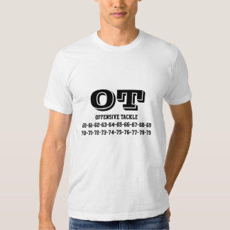 Offensive tackle jersey numbers T-Shirt