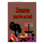 Offering Kwanzaa Holiday Greeting Cards