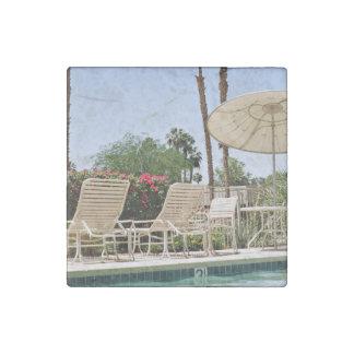 offering summer swimming enjoyment stone magnet