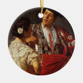 'Offering the Panel to the Bullfighter' Ceramic Ornament