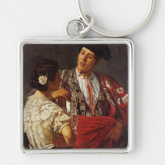 'Offering the Panel to the Bullfighter' Keychain