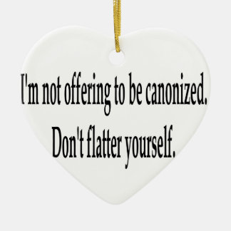 Offering To Be Canonized Christmas Ornaments