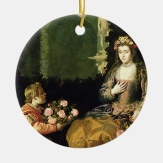 Offering to Flora, 1627 (oil on canvas) Ceramic Ornament