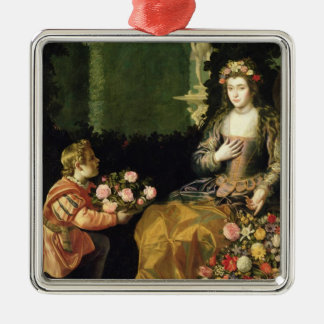 Offering to Flora, 1627 (oil on canvas) Metal Ornament