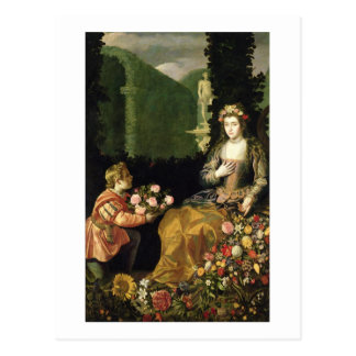 Offering to Flora, 1627 (oil on canvas) Postcard