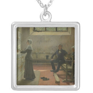 Offering to the Virgin the Day After the Square Pendant Necklace