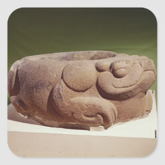 Offering vessel in the form of a giant toad, square sticker
