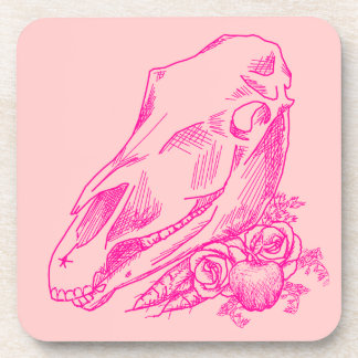 Offerings to Epona in Fuchsia Drink Coaster