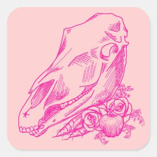 Offerings to Epona in Fuchsia Square Sticker