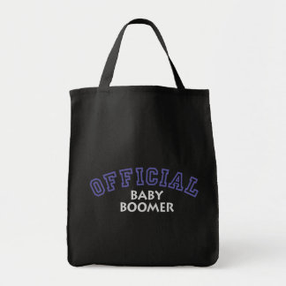 Offical Baby Boomer - Blue Grocery Tote Bag