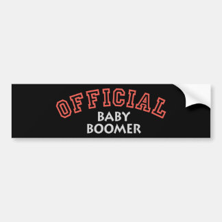 Offical Baby Boomer - Red Car Bumper Sticker