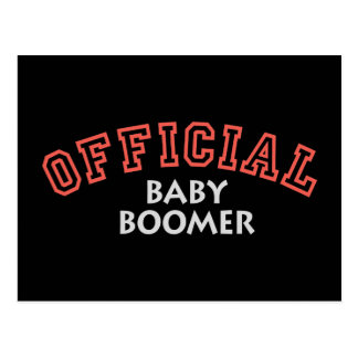 Offical Baby Boomer - Red Postcard