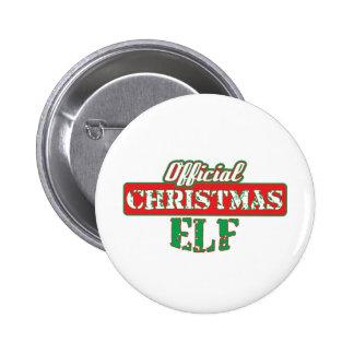 Offical Christmas Elf - Santa's Helper Pinback Button