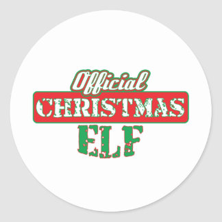 Offical Christmas Elf - Santa's Helper Round Stickers