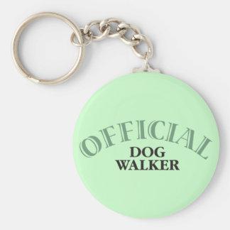 Offical Dog Walker Basic Round Button Keychain