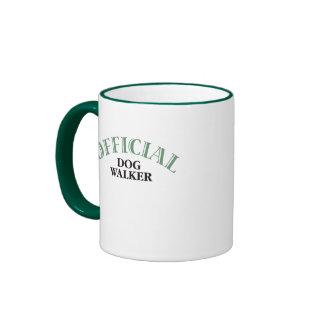 Offical Dog Walker Ringer Coffee Mug