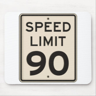 Offical Highway Speed Limit Sign 90mph Ninety Mouse Pad