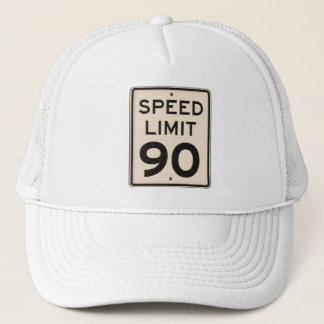 Offical Highway Speed Limit Sign 90mph Ninety Trucker Hat