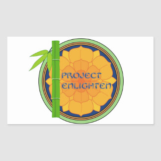 Offical Project Enlighten Merchandise Rectangular Sticker