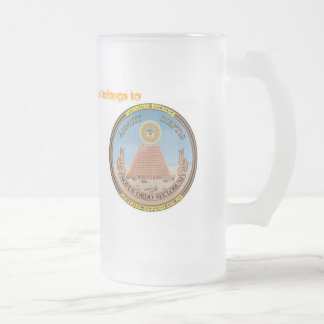 OFFICAL US TAX Payer 16 Oz Frosted Glass Beer Mug