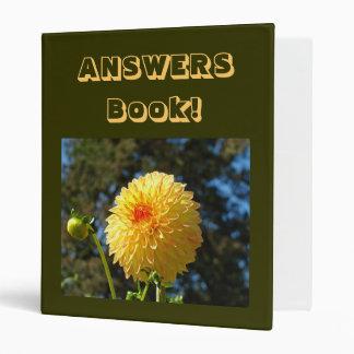Office Answers Book! binder Orange Dahlia Flower